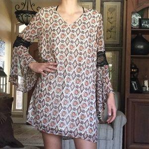 flows chiffon dress